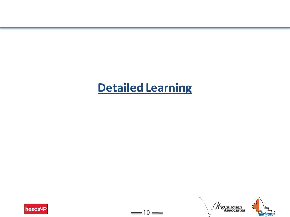 Detailed Learning 10