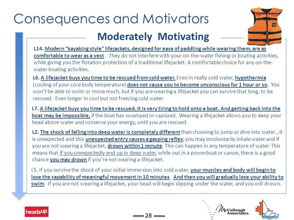 Consequences and Motivators 28 L2.