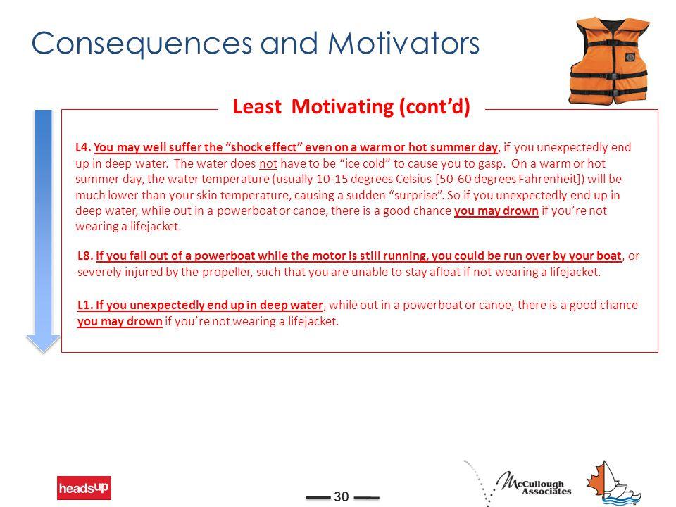 Consequences and Motivators 30 L4.