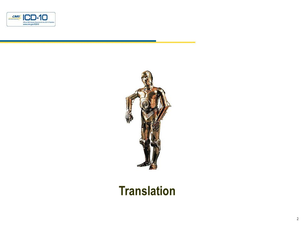 2 Health Data Consulting © 2010 Translation