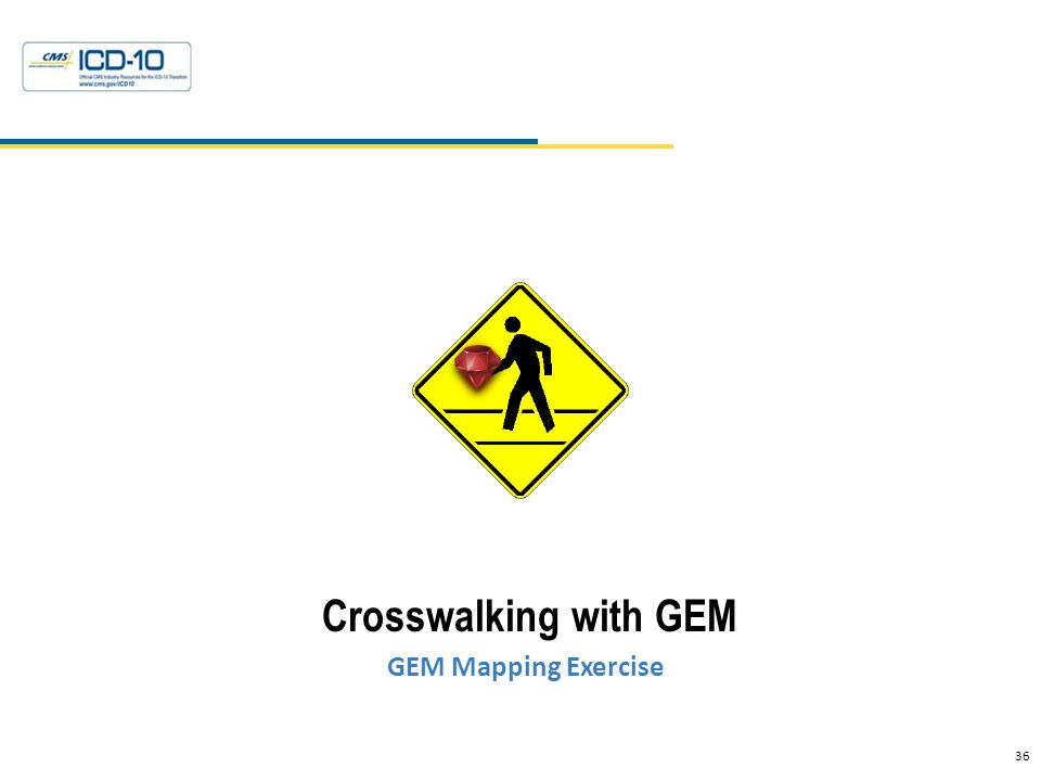36 Health Data Consulting © 2010 Crosswalking with GEM GEM Mapping Exercise