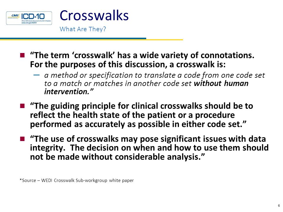 Crosswalks Definition Extracted from an article entitled - Issues in Crosswalking Content Metadata Standards.