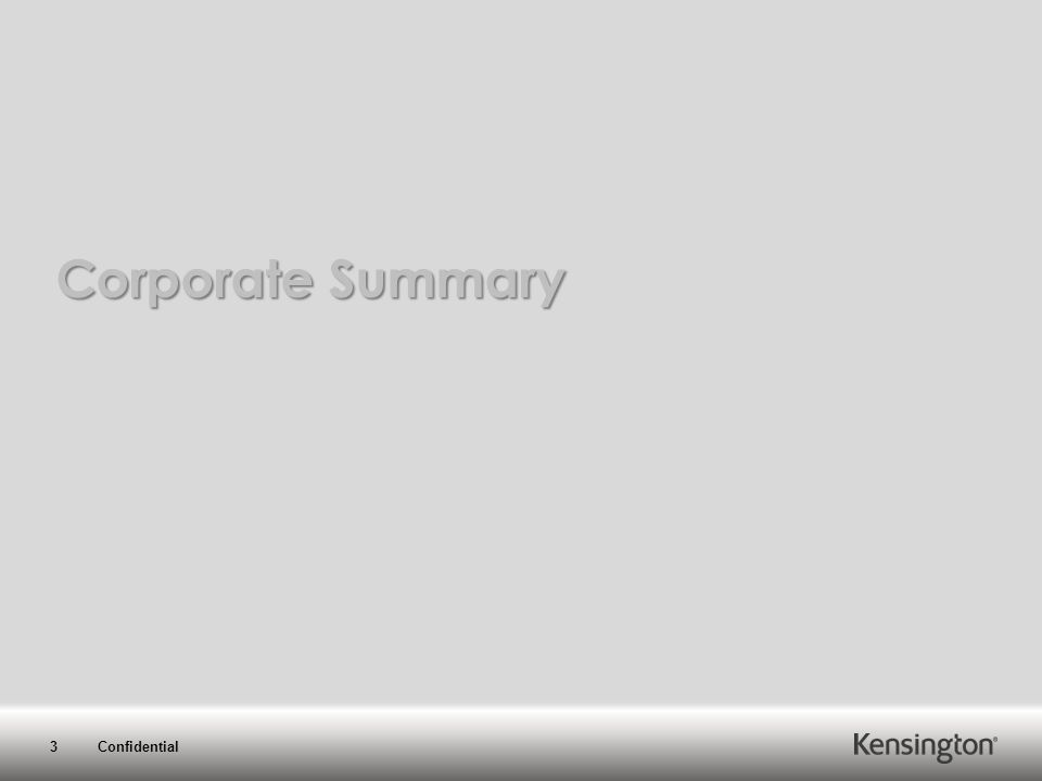 3 Confidential Corporate Summary