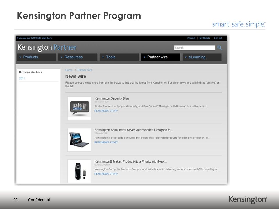 55 Confidential Kensington Partner Program
