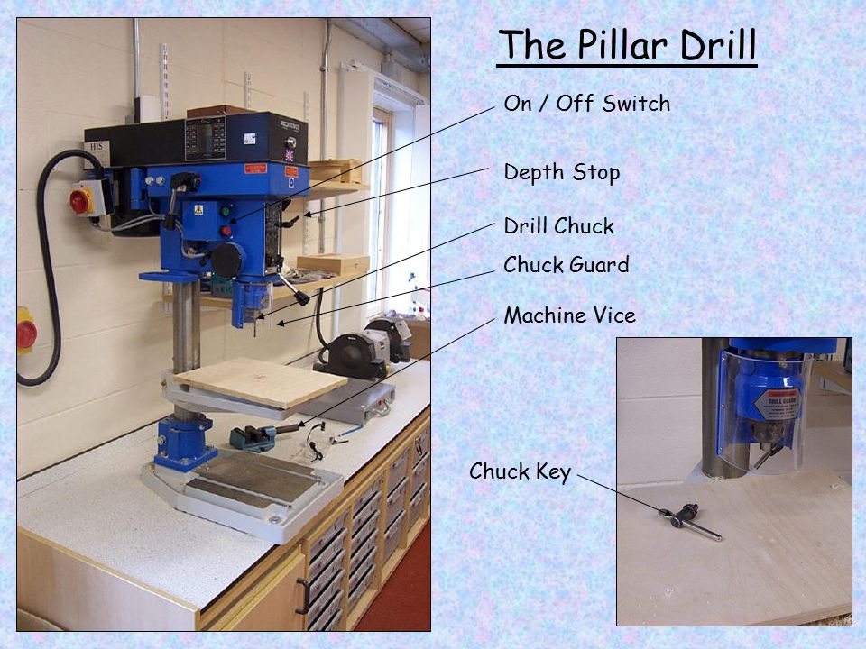 On / Off Switch Drill Chuck Chuck Guard Chuck Key Machine Vice Depth Stop