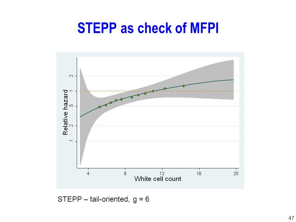 47 STEPP as check of MFPI STEPP – tail-oriented, g = 6