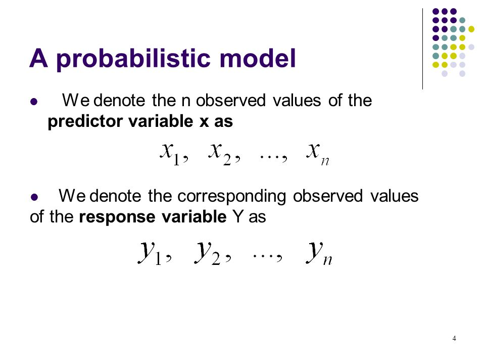 Summary Linear regression analysis The Least squares (LS) estimates:   and   Correlation Coefficient r Probabilistic model for Linear regression: Confidence Interval & Prediction interval Outliers.