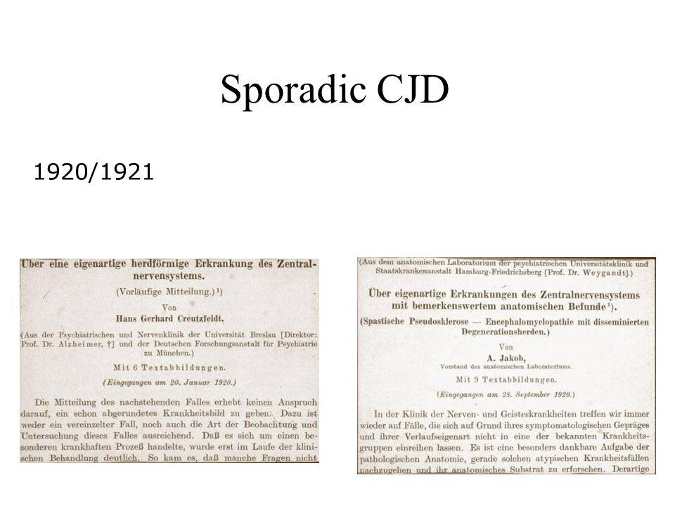 Sporadic CJD 1920/1921