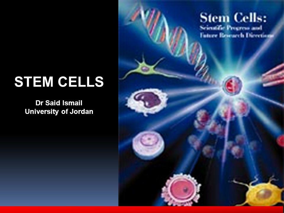 STEM CELLS Dr Said Ismail University of Jordan