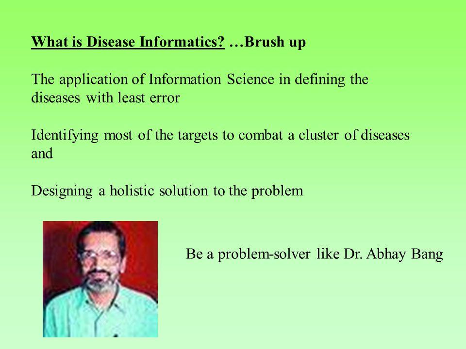 What is Disease Informatics.