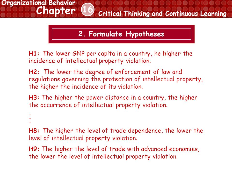 16 Chapter Critical Thinking and Continuous Learning Organizational Behavior 2.