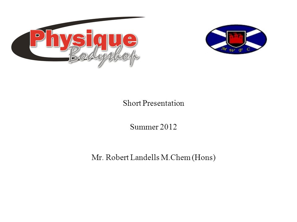 Mr. Robert Landells M.Chem (Hons) Short Presentation Summer 2012