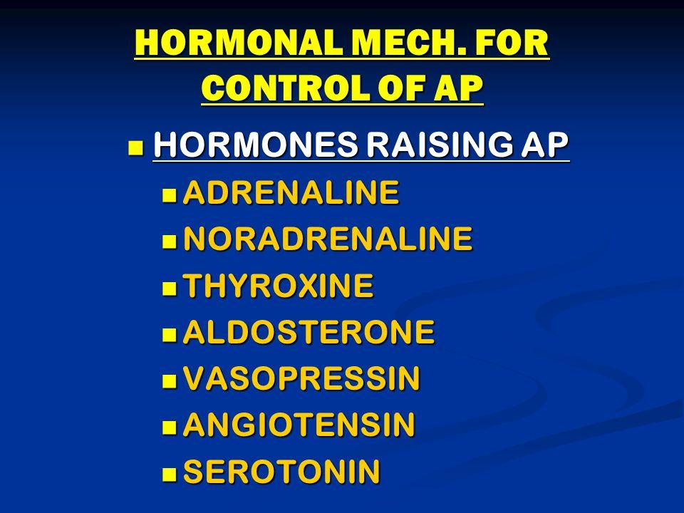 HORMONAL MECH.