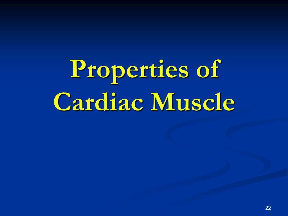 Properties of Cardiac Muscle 22