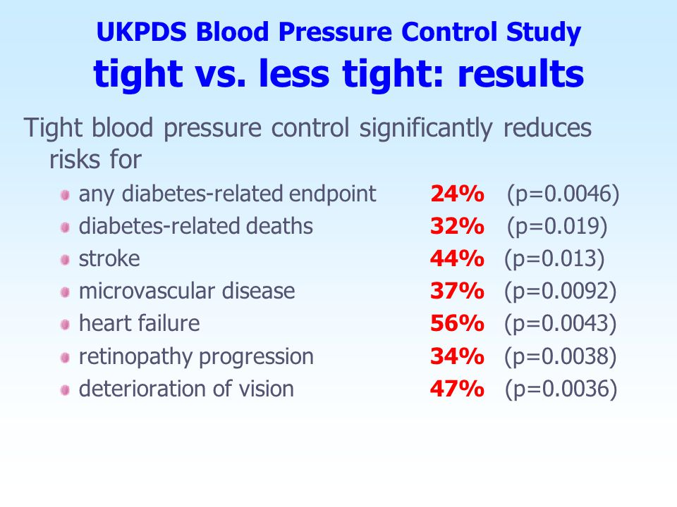 UK Prospective Diabetes Study largest multi-centre randomised controlled trial of different therapies of Type 2 diabetes largest study ever conducted in the prevention of diabetic complications in type II diabetics: study duration: 1977 - 1997 23 clinical centres patient population: 5102 type 2 diabetic patients 53,000 patient years follow-up