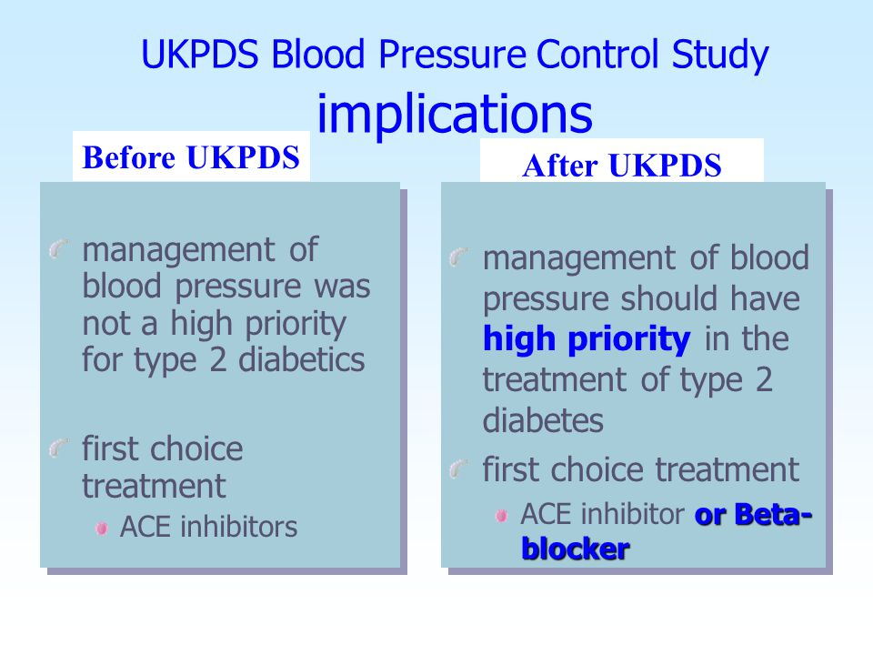 UKPDS Study Adapted from:BMJ, Volume 317(7160).September 12, 1998.713-720 Intermittent claudication or cold feet 0 15 (4) <0.0001 Bronchospasm 0 22(6) <0.0001