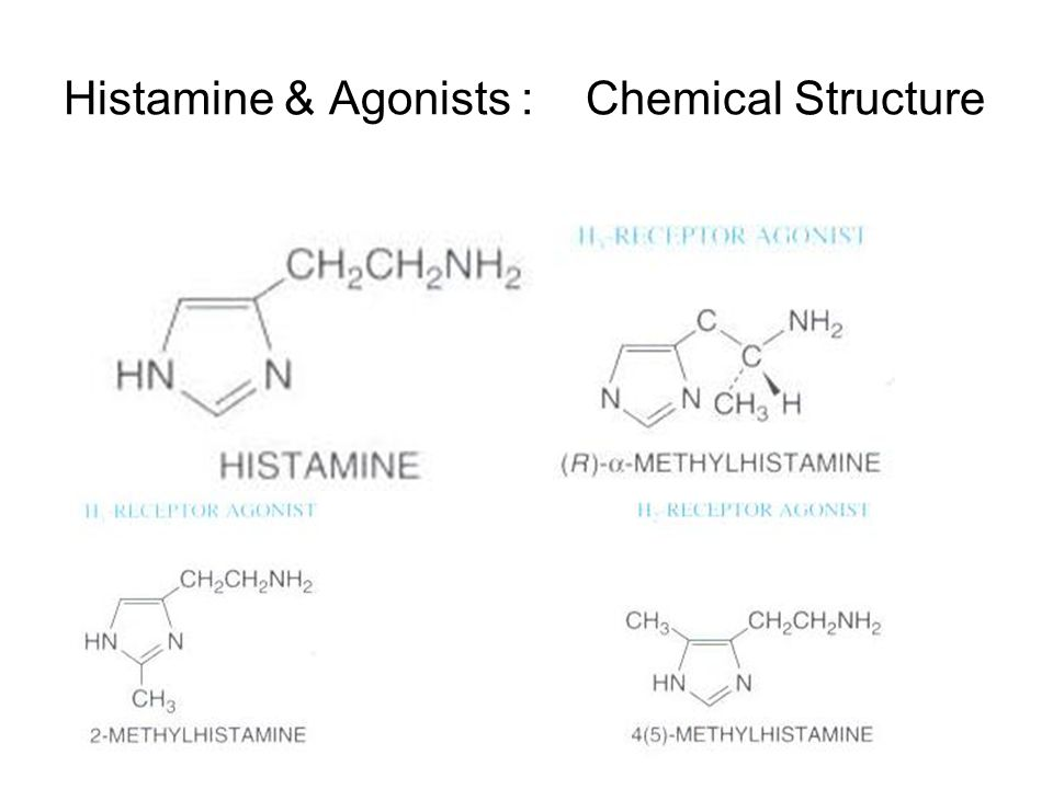 Histamine & Agonists : Chemical Structure