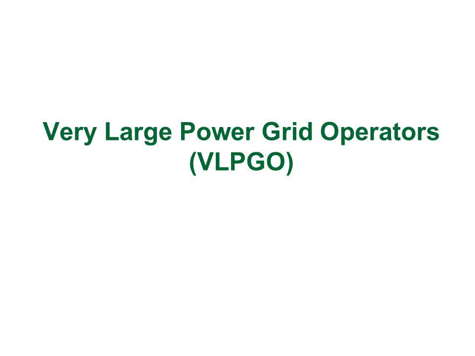 Very Large Power Grid Operators (VLPGO)