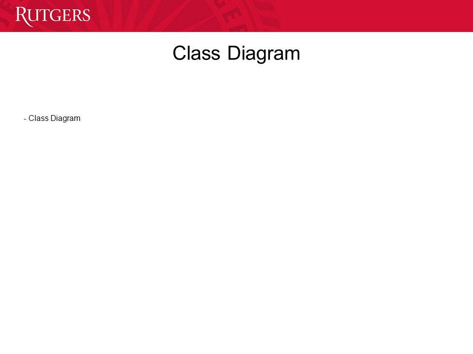 Class Diagram - Class Diagram