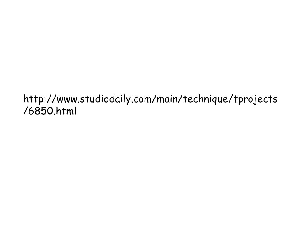 http://www.studiodaily.com/main/technique/tprojects /6850.html