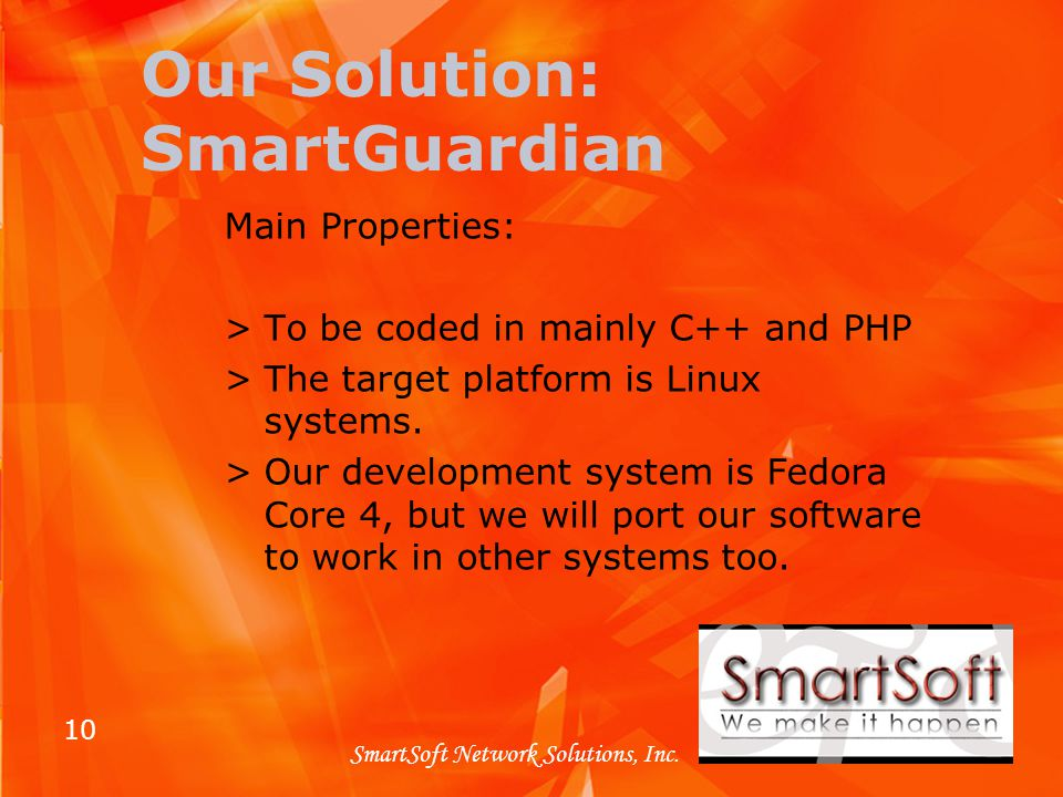10 SmartSoft Network Solutions, Inc.