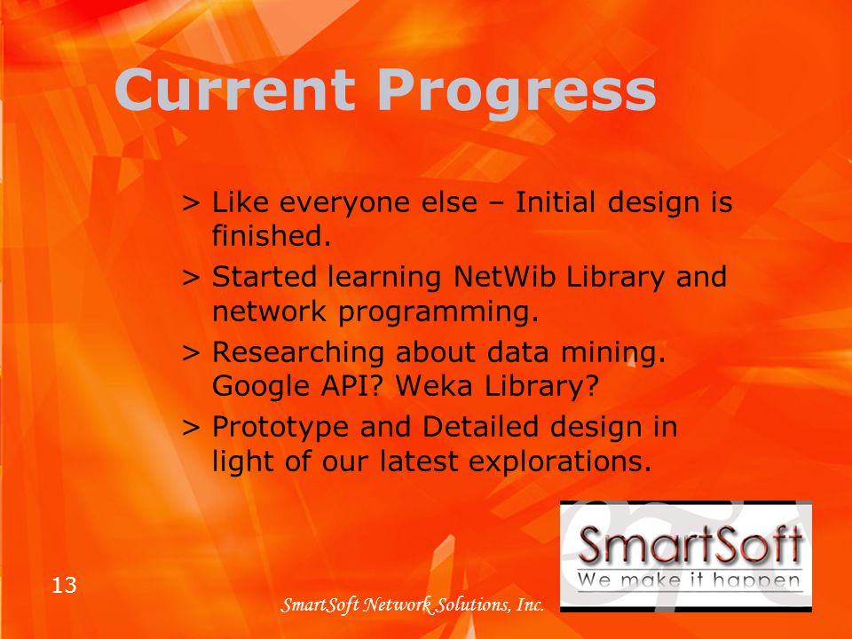 13 SmartSoft Network Solutions, Inc.