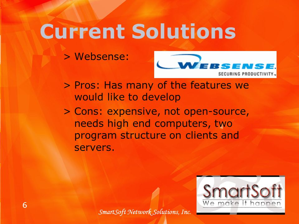 6 SmartSoft Network Solutions, Inc.