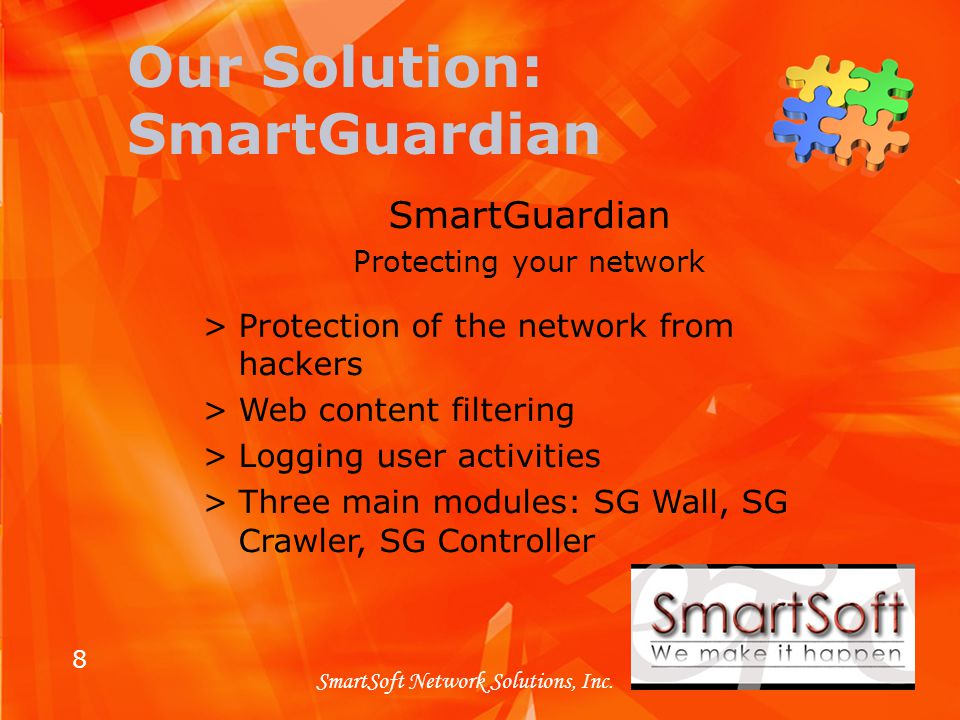 8 SmartSoft Network Solutions, Inc.