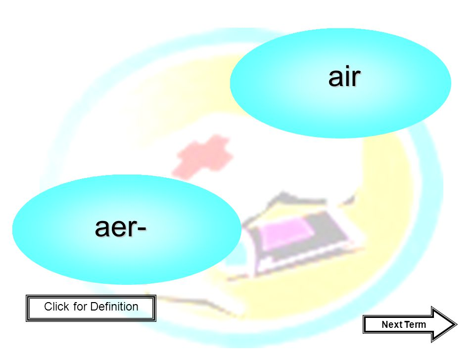 Click for Definition aer- air Next Term