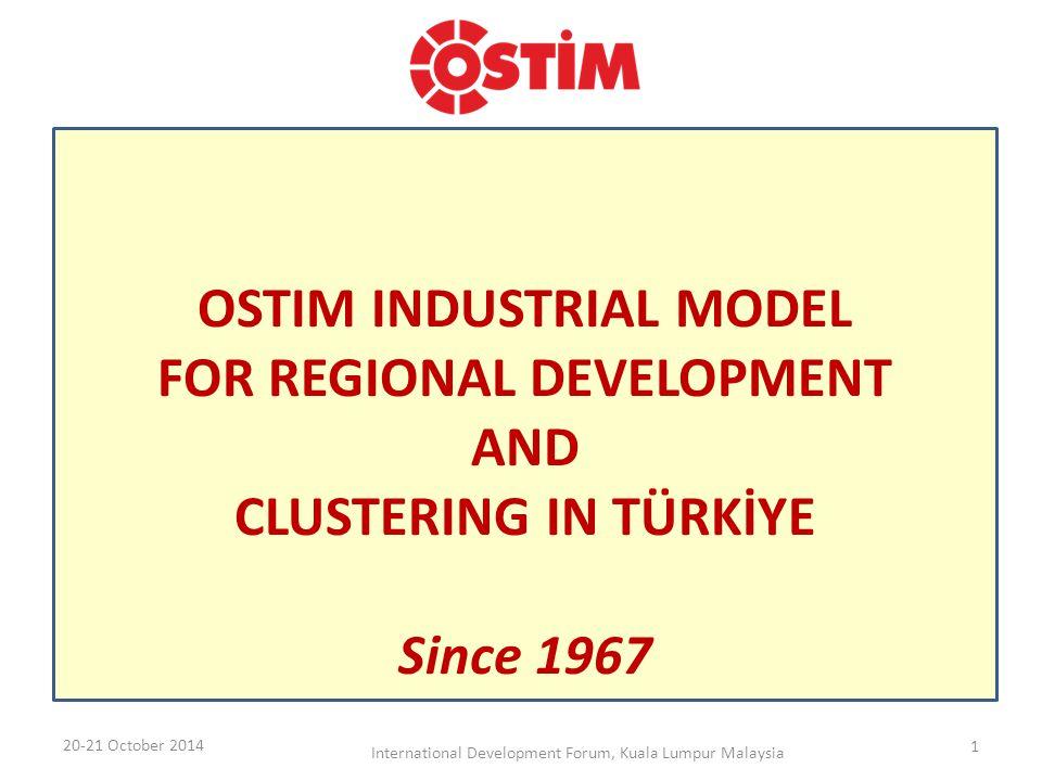 5.000 Enterprises 50.000 Employee OSTIM has reached to this level within 47 years of hard work 20-21 October 2014 International Development Forum, Kuala Lumpur Malaysia2