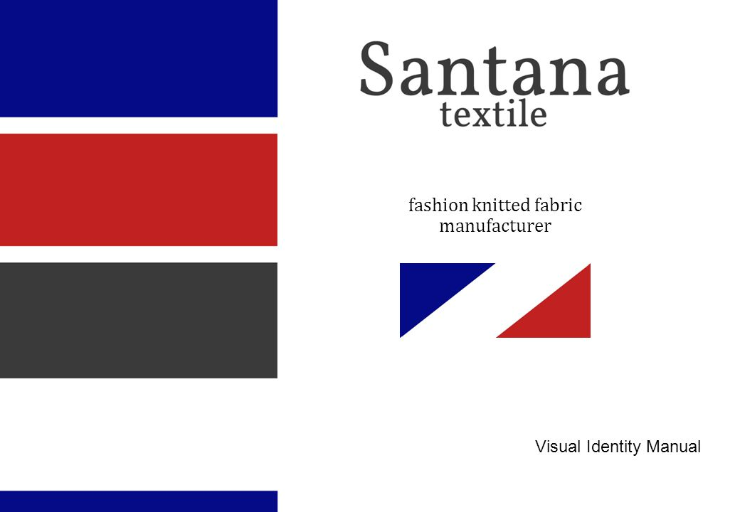 fashion knitted fabric manufacturer Visual Identity Manual