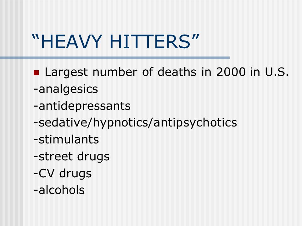 HEAVY HITTERS Largest number of deaths in 2000 in U.S.
