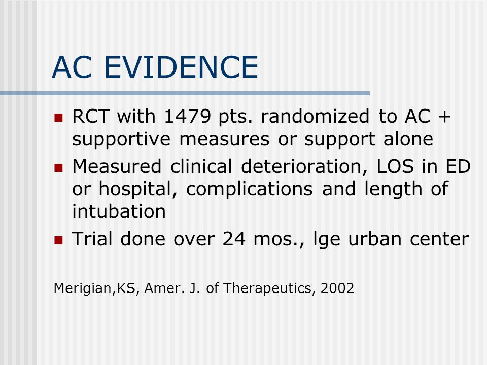 AC EVIDENCE RCT with 1479 pts.
