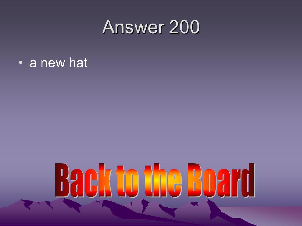 Answer 200 sirvo