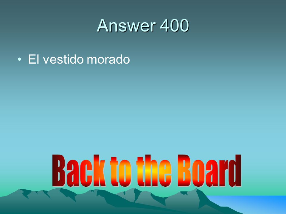 Answer 400 empiezo