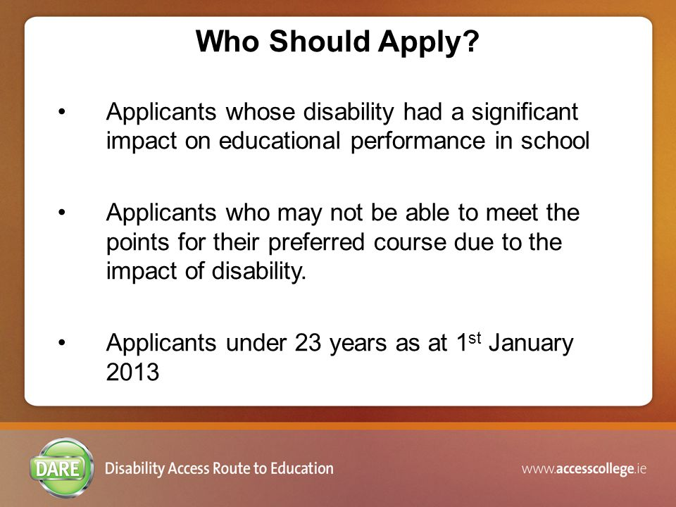 DisabilityAccepted Consultant or SpecialistAge of Report Asperger's Syndrome/ Autism Appropriately qualified Psychiatrist OR Psychologist OR Neurologist OR Paediatrician who is a member of his or her professional or regulatory body No Age Limit ADD/ ADHD Appropriately qualified Psychiatrist OR Psychologist OR Neurologist OR Paediatrician who is a member of his or her professional or regulatory body Less than 3 years old (i.e.