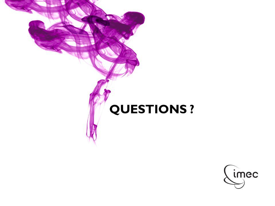© IMEC 2010 QUESTIONS