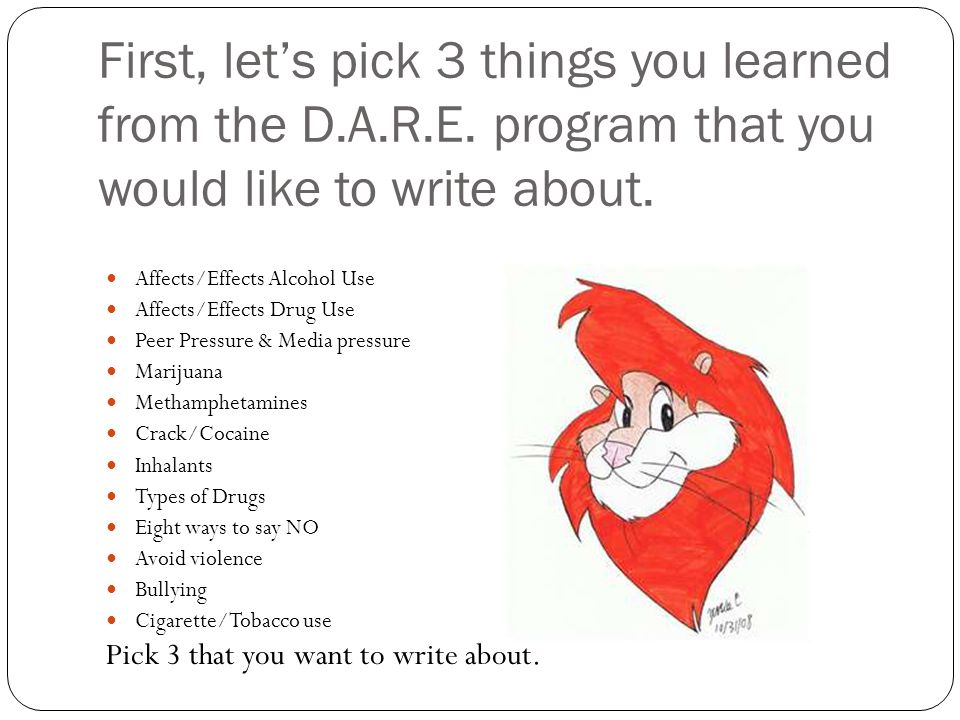 Writing Your D.A.R.E. Essay. Requirements 5 Paragraph Essay ...