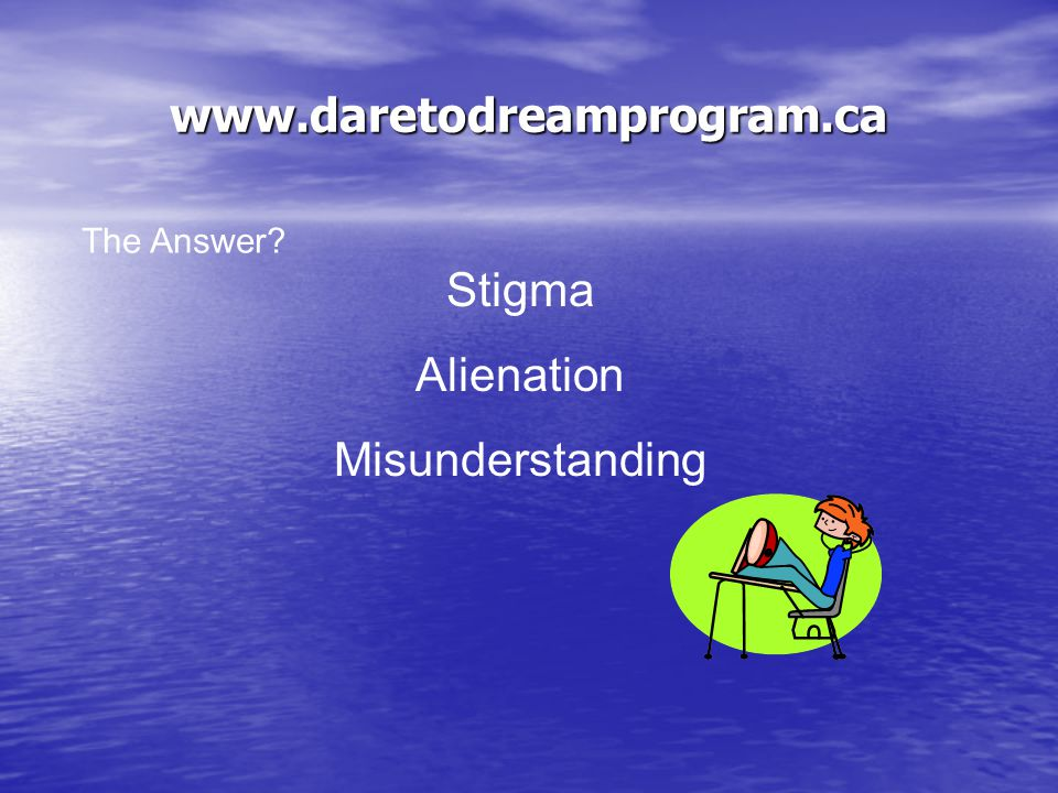 Question # 4 Can you name three negative things people with mental illness or mental health difficulties might have to face.