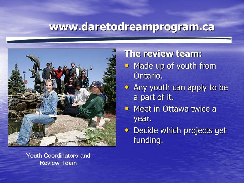 www.daretodreamprogram.ca What's it all about.