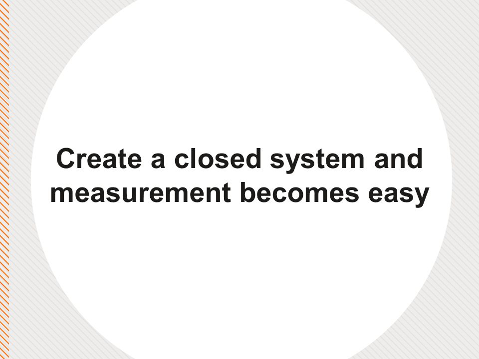 Create a closed system and measurement becomes easy