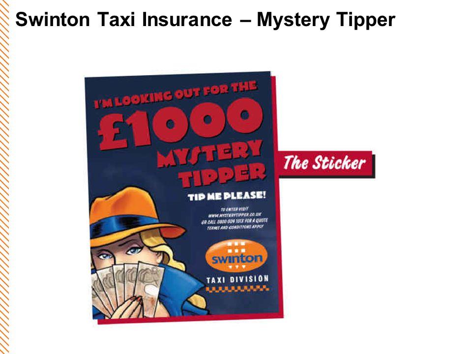 Swinton Taxi Insurance – Mystery Tipper