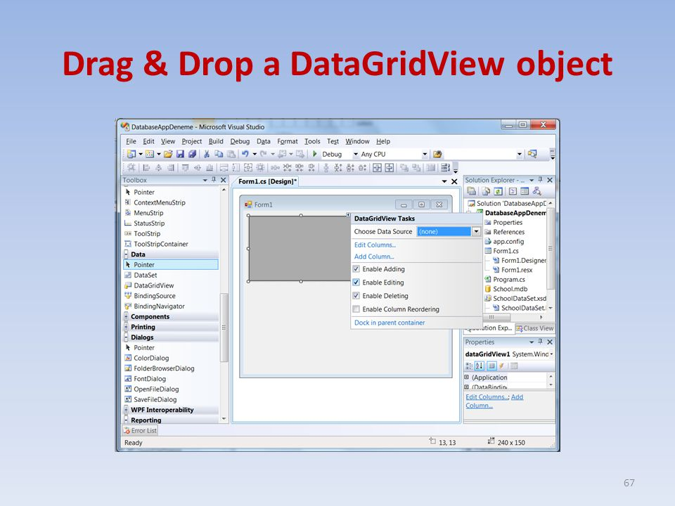 Drag & Drop a DataGridView object 67
