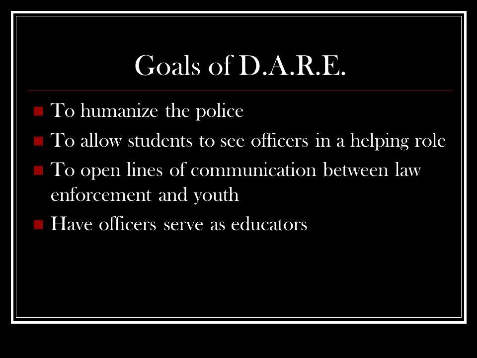Goals of D.A.R.E.