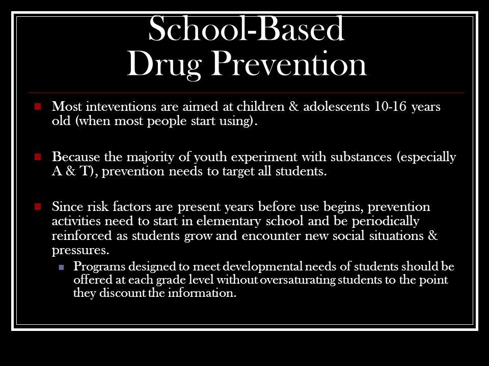 References Bosworth, K.(1997). Drug abuse prevention: School-based strategies that work.