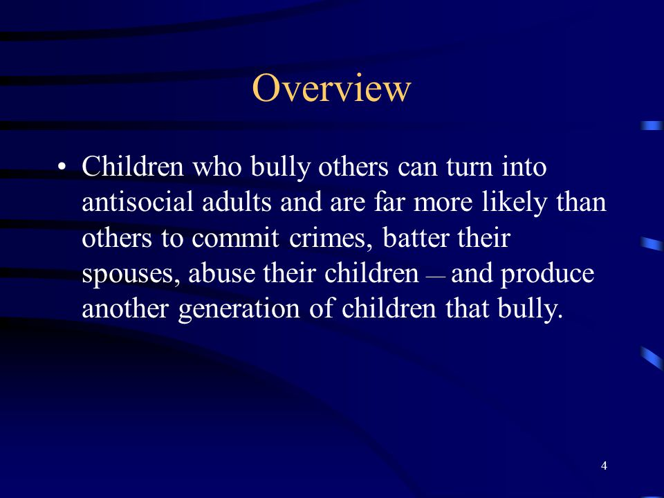 55 Interventions at the school level: Form a Bullying Prevention Coordinating Committee Create a strategic plan Administrative Support