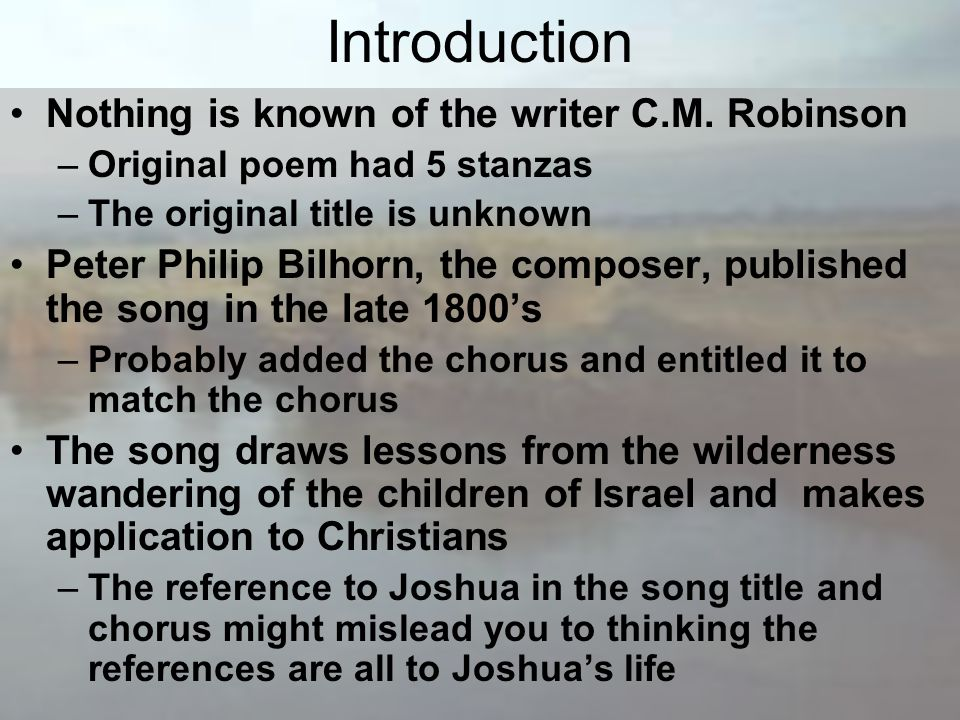 Introduction Nothing is known of the writer C.M.