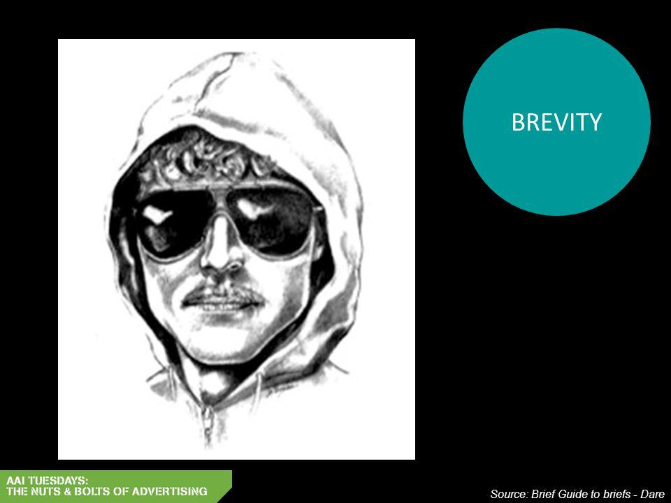 BREVITY Source: Brief Guide to briefs - Dare