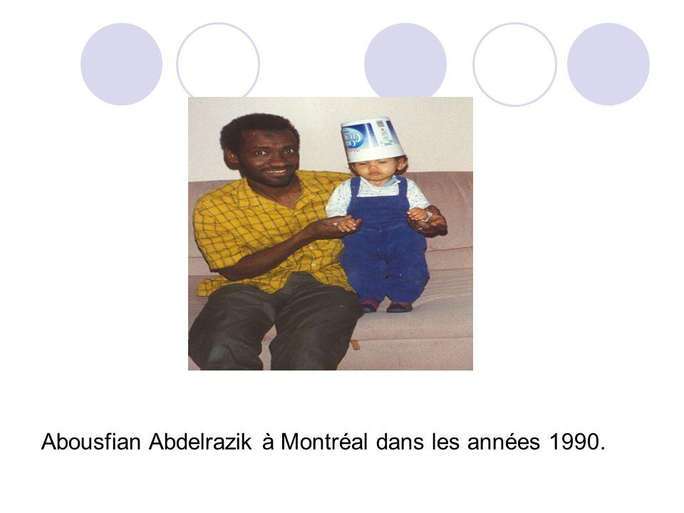 Abousfian Abdelrazik à Montréal dans les années 1990.