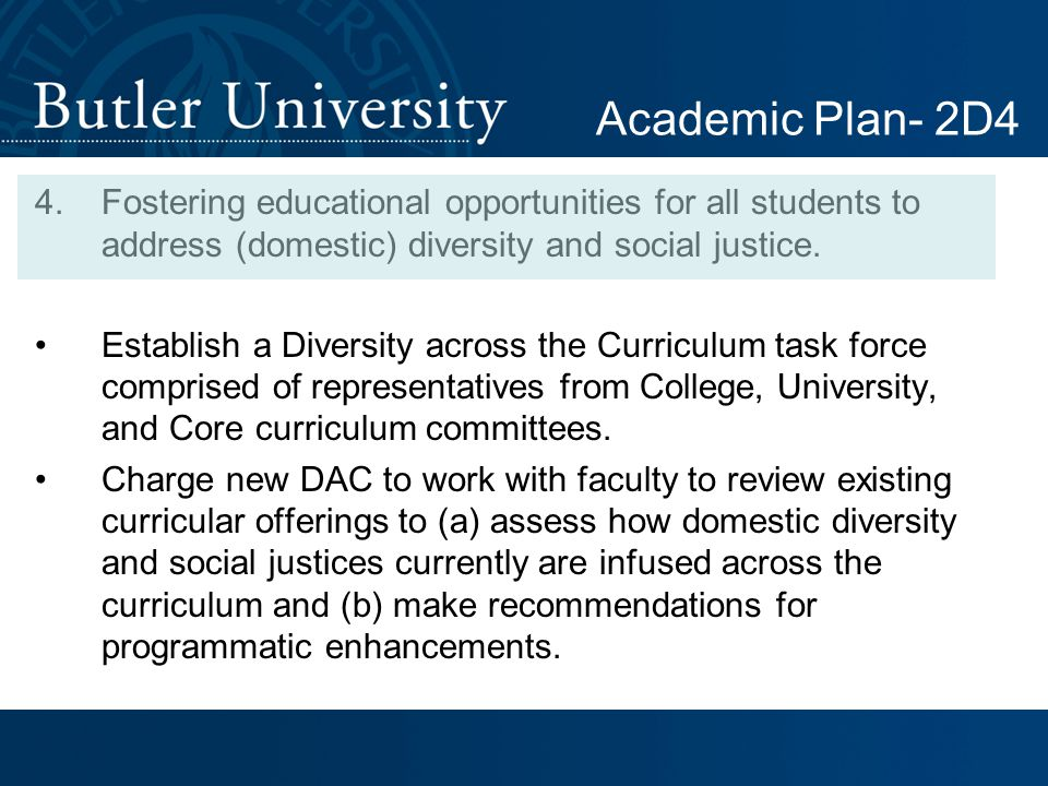 4.Fostering educational opportunities for all students to address (domestic) diversity and social justice.